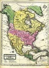 1821 maps 5 pg set N America S America Africa Europe Australia Asia Woodbridge