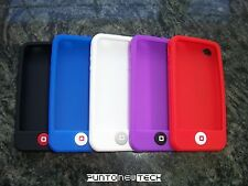 Cover CUSTODIA per IPHONE 4, 4S in Silicone Pulsante/Soft Silicon Case button