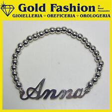 Bracciale argento con tuo nome personalizzato