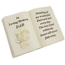 Special Dad Brushed Gold Rose Memorial Graveside Book Plaque