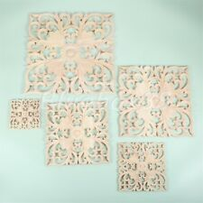 1pc Square Wood Carving Decal Woodcarving Door Onlay Applique Unpainted 6 Size