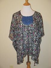 Anna Sui Oversize Blouse with Metallic Thread- Size Large- EUC