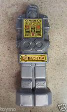 USED CUT 1985 Retro Vintage Plastic DAiTRON-3 BANK Robot Coin Piggy Emson Silver
