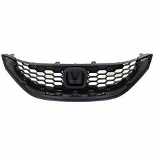 Grille For 2013-2014 Honda Civic Sedan Textured Black Plastic CAPA