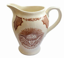Fair Winds Alfred Meakin Chinese Export America vintage red white jug pitcher