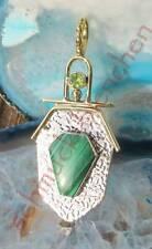 Colgante Malaquita Verde Piedra d Afrodita y Belleza Plata Esterlina 925