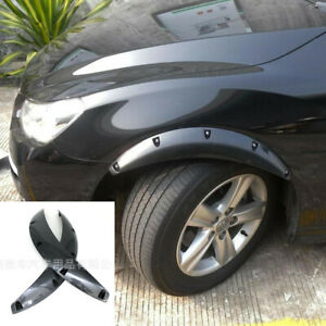 2pc Carbon Fiber Look Fender Flare Wheel Protector For Car Truck SUV Accessories
