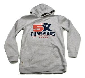 Outerstuff NFL Youth Boys New England Patriots 5X Champs Hoodie LOOK XL(18)