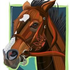 Songbird American Thoroughbred Racehorse Art Giclee Paper Print  Art SFASTUDIO