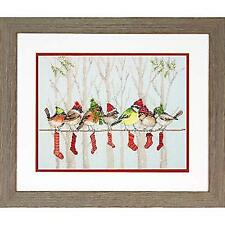 """Dimensions Counted Cross Stitch Kit 12""""x9"""" Winter Gathering (14 C 088677089702"""