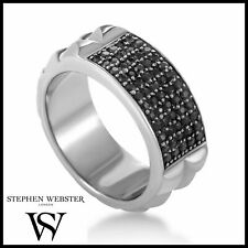 Stephen Webster .925 Sterling Silver Black Sapphire Ring / Band Retail $750
