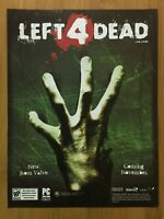 Left 4 Dead PC Xbox 360 2010 Vintage Print Ad/Poster Official Promo Art Rare