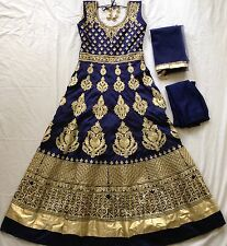 New Indian Readymade Long Frock Ladies Fashion Wedding Party Wear Bollywood