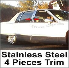 1993-1996 Cadillac Fleetwood 4Pc Stainless Steel Chrome Pillar Post Trim