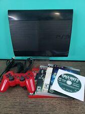 Sony Playstation 3 250GB CECH-4001B Super Slim PS3 Bundle + 5 Games Tested