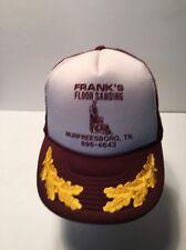 Trucker Hat Baseball Cap Frank's Floor Sanding Murfreesboro, TN Adjustable Back
