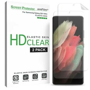 "amFilm (2 Pack) TPU Film Screen Protector for Samsung Galaxy S21 Ultra (6.8"")"