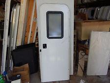 """Trailer Door, 26"""" X 72"""".  With Screen Door, Frame, Locks & Keys, New Door #87"""