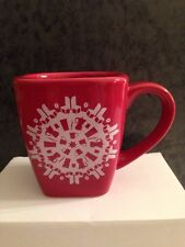 Starbucks 2004 Red Christmas Snowflake Holiday Coffee Cup Mug New Retired