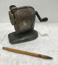 Vintage Boston Champion Pencil Sharpener Pinch Feed Hand Crank - Works Well!