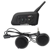 Interfono Microfono Auricolari Bluetooth Impermeabile per Casco Moto BT V6 1200m