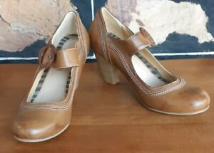 Shoes, Mary Janes, Leather, 1930's inspired, Caramel, by 'Sporx' size 41