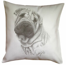 Shar Pei MS Breed of Dog Cotton Cushion Cover - Perfect Gift