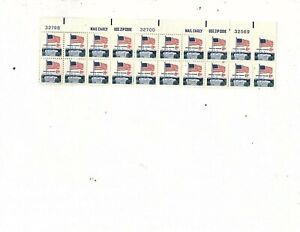 Error Color  1968 Used US Stamps Scott #1338f 8 Cent Flag & White House  (mb8a