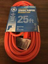 GE 3-WIRE. 16 GAUGE 25 FT GE INDOOR/OUTDOOR GENERAL PURPOSE GROUNDED CORD