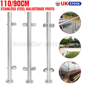 900/1100mm Stainless Steel Balustrade Posts Railing Glazing Pole Handrail Garden