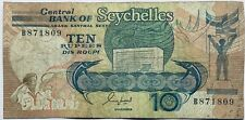 1989 CENTRAL BANK OF SEYCHELLES OLD 10 RUPEES BANKNOTE INDIAN OCEAN AFRICA 🇸🇨