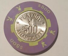 New Listing Casino Chips Playboy  Ac Rare. $ 500 Chip.Looks New.Used.