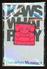 """KAWS x BROOKLYN MUSEUM """"WHAT PARTY"""" (RED) SQUARE CHUM PIN *BRAND NEW in PACKAGE"""