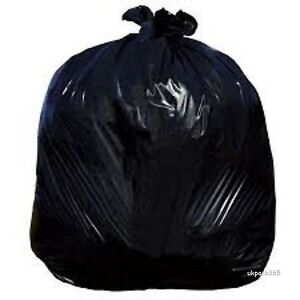 BIN BAG LINERS RUBBISH REFUSE SACKS BLACK/CLEAR STRONG BAGS-CHOOSE COLOUR/SIZE