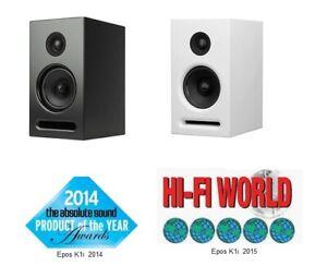 Epos K5   Weiss / Schwarz  NEU    British Audiophile     statt 440€