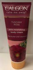 Calgon Body Cream with Shea Butter & Aloe TUSCANY ROSE 8 oz 226 g
