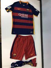 Kit De Fútbol Nike Barcelona Kids, Talla L 12-13 años Camiseta Pantalones Cortos