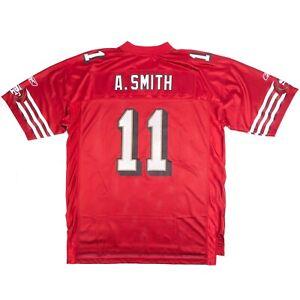 Reebok San Francisco 49ers Alex Smith #11 NFL Football Jersey Red Men's Size XL