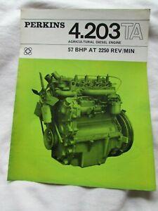 @Perkins 4.203 TA Agricultural Diesel Engine Brochure 11/66@