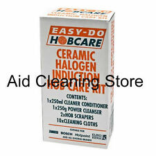 Easy Do Ceramic & Halogen Hob Cleaner Kit With Hob Scrapers Cooker Clean A80625