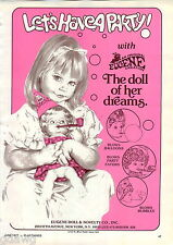 1977 ADVERT Eugene Doll Dolls Blows Bubbles Balloons