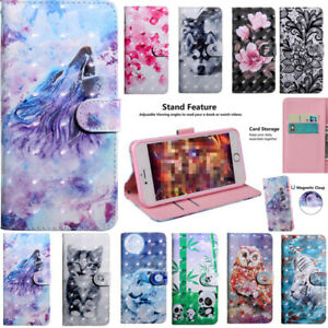 For HUAWEO Y5 Y6 Y7 Y9 2019 HONOR Magnetic Card Wallet Flip Leather Case Cover
