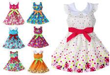 Cotton Blend Skater Girl Dresses (2-16 Years) for Girls