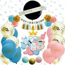 Baby Gender Reveal Party Supplies | 75 Pieces