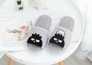 penguin black plush indoor slippers shoes Open-toed sandals 2021