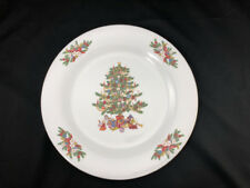 "Crown Ming Christmas Mistletoe 10½"" China Dinner Plate [Several Available]"