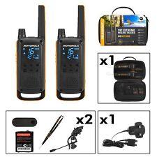 2 x Motorola T82 Extreme Two-Way Radios Long Range 10km Twin PMR 446 IPX4