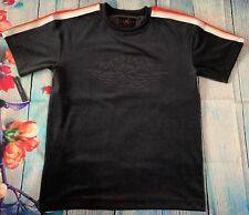 Air Jordan Gold Chain Short Sleeve Top Tee Shirt Stamp In Front Sz Small Black