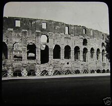 Glass Magic Lantern Slide SECTION OF THE COLOSSEUM NO2 ROME C1900 ROMA ITALY