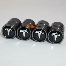 4X Titanium Black Car Wheel Tire Valve Stem Cover Air Caps For TESLA Model X S 3